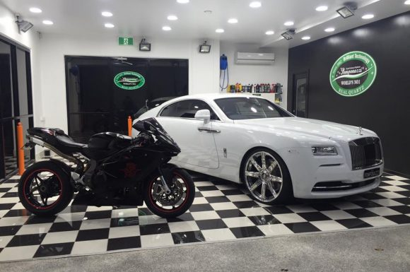 Rolls Royce Wraith and Motorbike